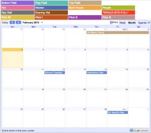 Wike Campsite Calendar